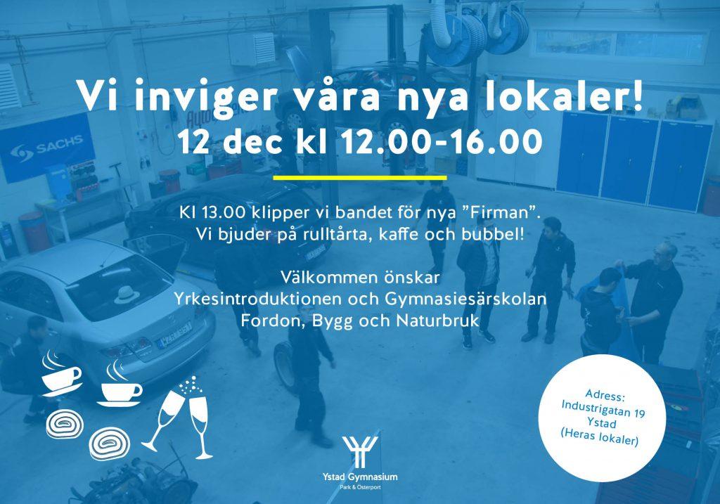 Invigning av Firman Ystad Gymnasium