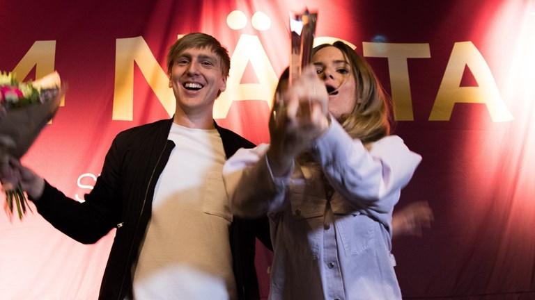 Hilde och Erik vann tävlingen P4nästa