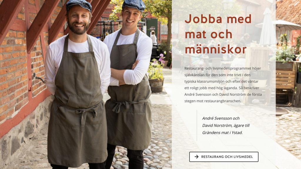 inropare Grändens Mat Ystad Gymnasium